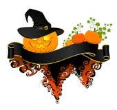 Pompoen die op Halloween gloeit royalty-vrije illustratie
