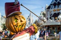 Pompoen en Castel in Disney Stock Afbeelding