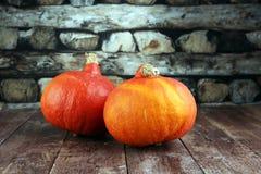 Pompoen en pompoenplakken Autumn Healthy Food Nutrition Seasona Stock Foto's
