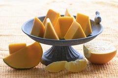 Pompoen en sinaasappel Stock Afbeelding