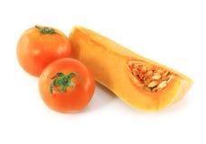 Pompoen en tomaten Royalty-vrije Stock Fotografie
