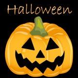 Pompoen eng gezicht voor Halloween Stock Afbeeldingen