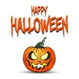 Pompoen Gelukkig Halloween vector illustratie