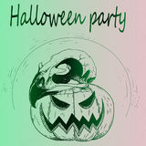 Pompoen Halloween en Schedel Stock Afbeeldingen