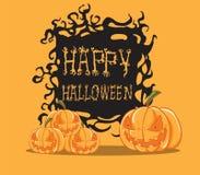 Pompoen. Halloween-monster Stock Afbeeldingen