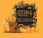 Pompoen. Halloween-monster Stock Fotografie