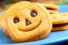 pompoen koekjes Royalty-vrije Stock Afbeeldingen