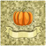 Pompoen op geometrische achtergrond vector illustratie