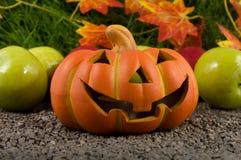 Pompoen op Halloween. Royalty-vrije Stock Afbeelding