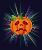 Pompoen op Halloween Stock Afbeelding