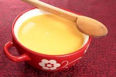 Pompoen-tomaat soep stock afbeeldingen