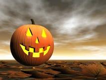 Pompoen voor 3D Halloween - geef terug Royalty-vrije Stock Fotografie