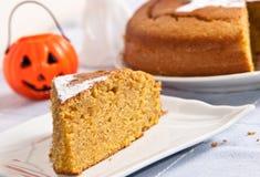 Pompoencake voor Halloween Stock Foto's