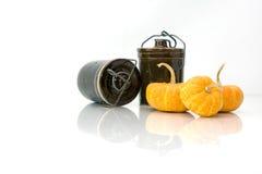 3 pompoenen Royalty-vrije Stock Afbeelding