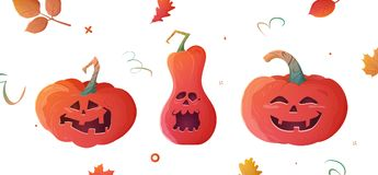 Pompoenen Halloween vector illustratie