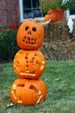 Pompoenen in Halloween Stock Afbeelding
