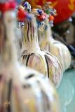 Pompoenen in ornamenten worden gebruikt dat Stock Foto