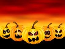 Pompoenen voor Halloween Royalty-vrije Stock Afbeeldingen