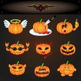 Pompoenen voor Halloween Stock Fotografie