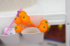 Pompoenenstuk speelgoed in Halloween-vakantie royalty-vrije stock afbeelding
