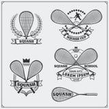 Pompoenetiketten, emblemen, kentekens en ontwerpelementen Royalty-vrije Stock Afbeelding