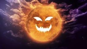 Pompoengezicht Halloween royalty-vrije illustratie