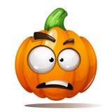 Pompoenillustratie Verschrikking, vrees, droevig Halloween stock illustratie