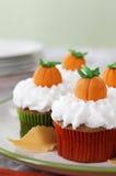 Pompoenkruid cupcakes Stock Afbeelding