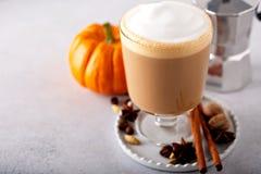 Pompoenkruid latte stock foto
