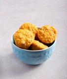 Pompoenmuffins met noten Stock Fotografie