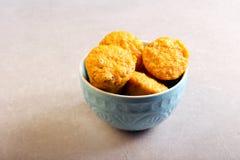 Pompoenmuffins met noten en rozijn Royalty-vrije Stock Fotografie