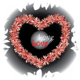 Pompom Heart Illustration Royalty Free Stock Images
