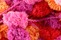 Pompom wool Royalty Free Stock Image