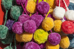 Pompoms colors. Royalty Free Stock Image