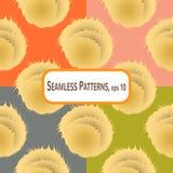 Pompons Pattern Stock Photo