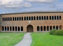 Pomposa修道院的修道院在意大利 库存照片