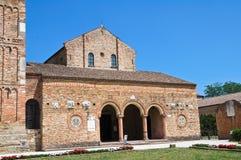Pomposa Abbey. Codigoro. Emilia-Romagna. Italien. Arkivbild