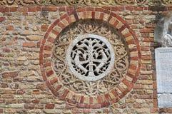 Pomposa abbotskloster. Codigoro. Emilia-Romagna. Italien. Fotografering för Bildbyråer