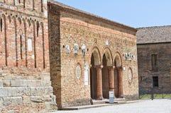 Pomposa abbotskloster. Codigoro. Emilia-Romagna. Italien. Royaltyfri Foto