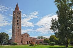 Pomposa abbotskloster i Codigoro, Ferrara, Italien, medeltida Benedictine Arkivfoton