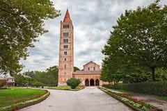 Pomposa abbotskloster i Codigoro, Ferrara, Italien, medeltida Benedictine Arkivfoto