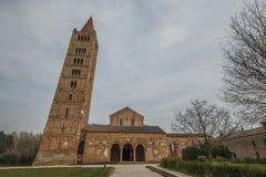 Pomposa abbotskloster i Emilia-Romagna Royaltyfria Foton