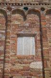 Pomposa Abtei. Codigoro. Emilia-Romagna. Italien. Lizenzfreies Stockfoto
