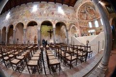 POMPOSA, ITALIA - 9 de octubre de 2016 - abadía de la iglesia de Pomposa Imágenes de archivo libres de regalías