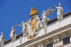 Pompous decoration of Hofburg, Vienna Stock Image