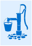 pompować wodę ilustracji