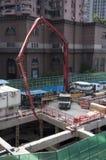 Pompować beton, Szanghaj Fotografia Royalty Free