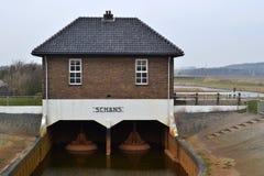 Pompować stacyjnego Oude Schans na Texel. Obrazy Royalty Free