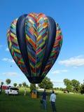 Pompowania gorącego powietrza balon Zdjęcia Stock