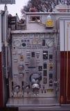Pompowy panel na samochodzie strażackim fotografia stock